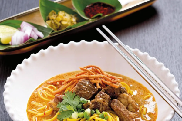 """Khao Soi""a popular dish in the north Thailand"