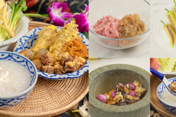 """Khao Chae"", the traditional Thai food menu"